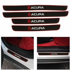 BRAND NEW 4PCS ACURA RED RUBBER DOOR SILL SCUFF UNIVERSAL for Sale in City of Industry,  CA