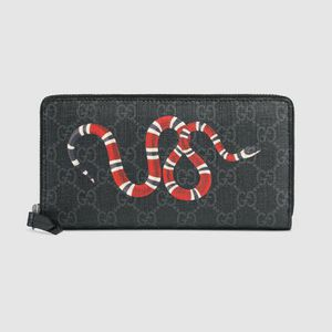 Authentic GUCCI Canvas Grey and Black KINGSNAKE Zipper Wallet for Sale in Philadelphia, PA