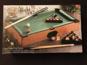 Game Night Tabletop Pool Shot Glass Set for Sale in Tucson, AZ