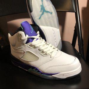 Nike Air Jordan White Grape V Retro 5 Size 9.5 for Sale in Burkeville, VA