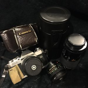 Vintage Canon AL-1 QF 28mm Film SLR Camera with 2 more lenses for Sale in VERNON ROCKVL, CT