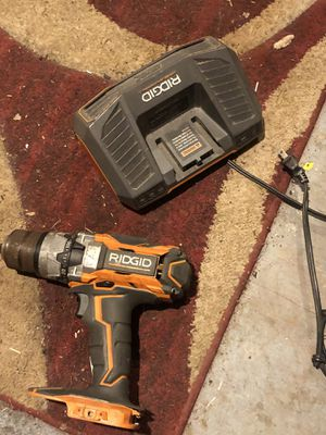Ridgid 18 V drill and charger for Sale in Nashville, TN