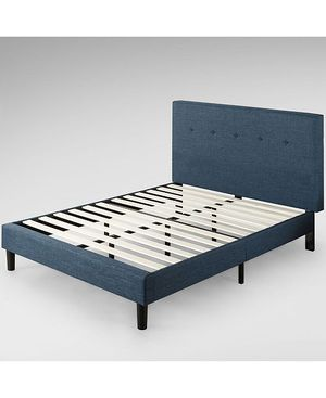 Zinus Omkaram Upholstered Navy Button Detailed for Sale in San Jose, CA
