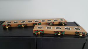 Wooden Flat Tealight Candle Holders with Christmas Ribbons for Sale in Fort Lauderdale, FL