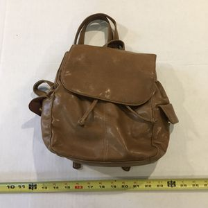Small Brown Faux Leather Backpack Purse for Sale in Taunton, MA