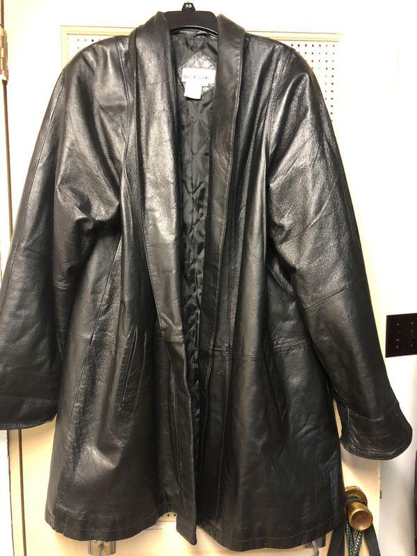 David Benjamin 3/4 length leather jacket.