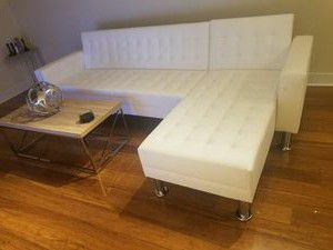 New White Futon Sectional Sofa for Sale in Austin, TX