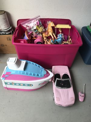 Barbies and many other thing in this large tub for Sale in Gulfport, FL