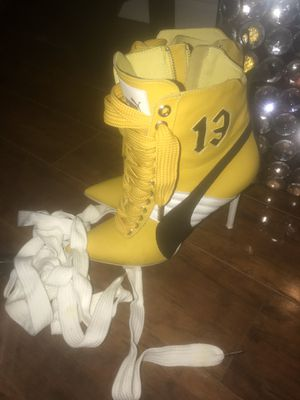 Fenty puma yellow leather boots size 39 women for Sale in Walnut Creek, CA
