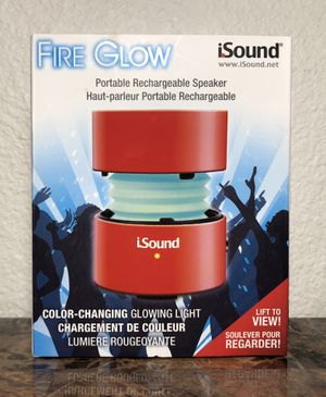 Isound Fire Glow portable rechargeable speaker for Sale in Carlsbad, CA