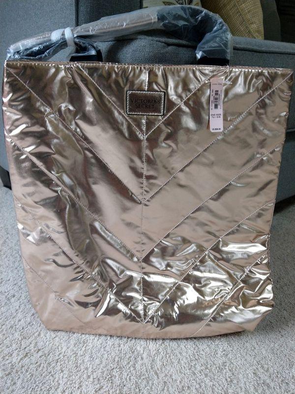 Gold tote bag Victoria's Secret brand new