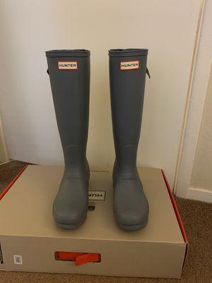 100% Authentic Brand New in Box Hunter Original Tall Rain Boots / Color Pale Blue / Women size 6 (EU 37) for Sale in Walnut Creek, CA