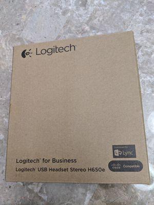 Brand new Logitech H650E business class stereo USB headset for Sale in Hudson, FL