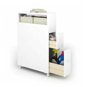 Wooden Rolling Storage Cabinet for Bathroom for Sale in Corona, CA
