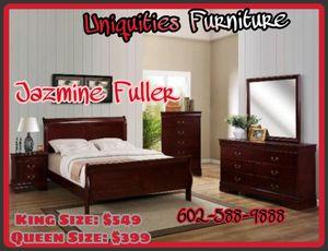 King 4 piece bedroom set COLOR CHOICE for Sale in Glendale, AZ