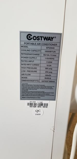 COSTWAY Portable air conditioner for Sale in Key Biscayne, FL