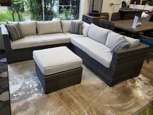 New outdoor patio furniture sectional sofa with ottoman tax included free delivery for Sale in Hayward, CA