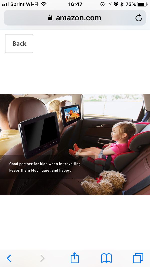 Headrest DVD Player for Car Can Use Both in Car or at Home as DVD Player 10inch screen