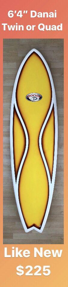 "6'4"" Danai EPS Epoxy Surfboard Twin Optional Quad Swallowtail for Sale in Anaheim, CA"