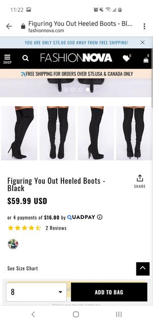 Fadhion Nova thigh high boots for Sale in El Monte, CA
