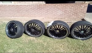 20 inch black and chrome Rims for Sale in Phoenix, AZ