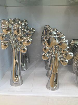 Flower beautiful sculpture furniture silver for Sale in Miramar, FL