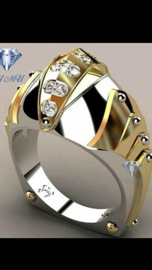 Men's ring silver & gold plated only 5.00 for Sale in Northfield, OH