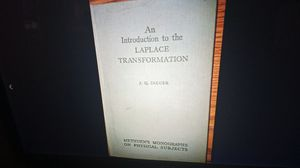 An introduction to the LaPlace transformation vintage book 1949 for Sale in Oshkosh, WI
