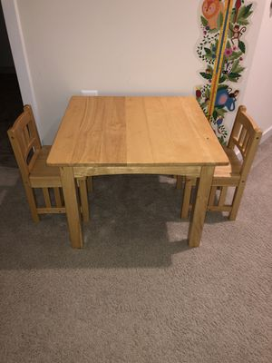 Fischer Price kids wood table and two chairs for Sale in Arlington, VA