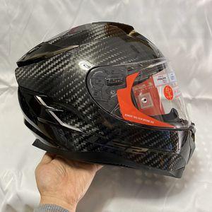 Motorcycle Full Face Helmet, LS2 Carbon Fiber Helmets With Helmet Bag for Sale in Brooklyn, NY