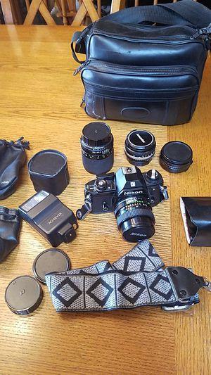 Nikon EM camera set vintage 35mm for Sale in Homer Glen, IL