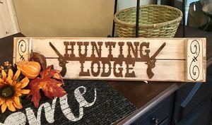 "Handmade Hunting Lodge Sign - Farmhouse Cabin 30""Lx7""W ~$15 for Sale in Merritt Island, FL"