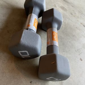 New 10lb Neoprene Hex Dumbbells Weights Weightlifting for Sale in Lantana, FL