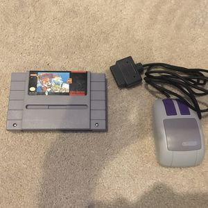 Mario Paint + Mouse for Nintendo SNES for Sale in Salem, OR