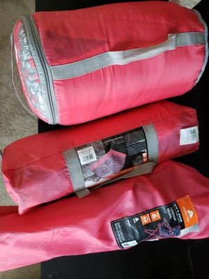 Kids camping set,sleeping bag camping chair, tent for Sale in Virginia Beach, VA