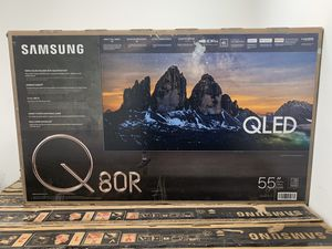 Samsung QN55Q80RAFXZA Flat 55-Inch QLED 4K Q80 Series Ultra HD Smart TV with HDR and Alexa Compatibility (2019 Model) for Sale in Downey, CA