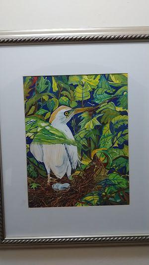 The nest. Original Watercolor by Nimia. for Sale in Miami, FL