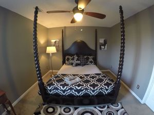 Moroccan loca Canopy Bed frame! Excellent condition. Bought in DC for Sale in Knoxville, TN
