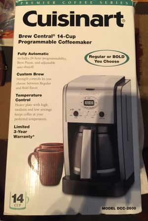 Cuisinart 14 Cup Programmable Automatic Coffee Maker With Custom Brew and Temperature Control New for Sale in Joint Base Pearl Harbor-Hickam, HI