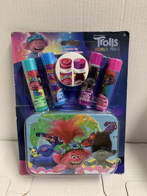 Trolls World Tour 4 Ct. Lip Balm W/collectors Tin Set NIB for Sale in Hialeah, FL