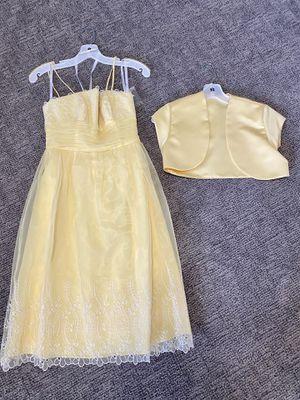 Yellow chiffon short dress for Sale in Layton, UT