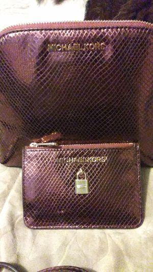 Brand New Merlot Michael Kors Bag & wallet. $315 retail for Sale in Citrus Heights, CA