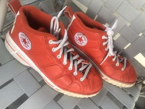 Orange Leather CHUCK TAYLOR Converse All Stars. Chuck shoes for Sale in Columbus, OH