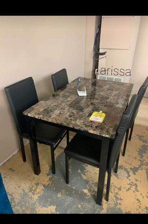 ⬇️ 39 DOWN PAYMENT ☆ Brand New Black 5-Piece Dining Set》Table & 4 Side Chairs🚚 SAME-DAY DELIVERY for Sale in Houston, TX