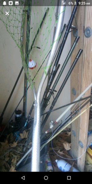 Poles net tackle minnow bucket $30 for Sale in Columbia, MO