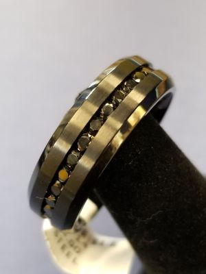 stainless steel size14 black wedding band for Sale in Charlotte, NC