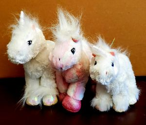 Lot of 3 Webkinz Unicorns and Pink Pony for Sale in San Antonio, TX