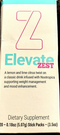 BRAND NEW- ELEVATE LEMON LIME FUNCTIONAL BEVERAGE STICKS for Sale in Apple Valley,  CA