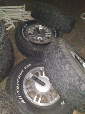 Cheap Hummer h3 rims and tire( chevy 6 lug) for Sale in Temecula, CA