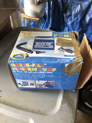 Quick Fill Air mattress electric pump for Sale in Gainesville, GA